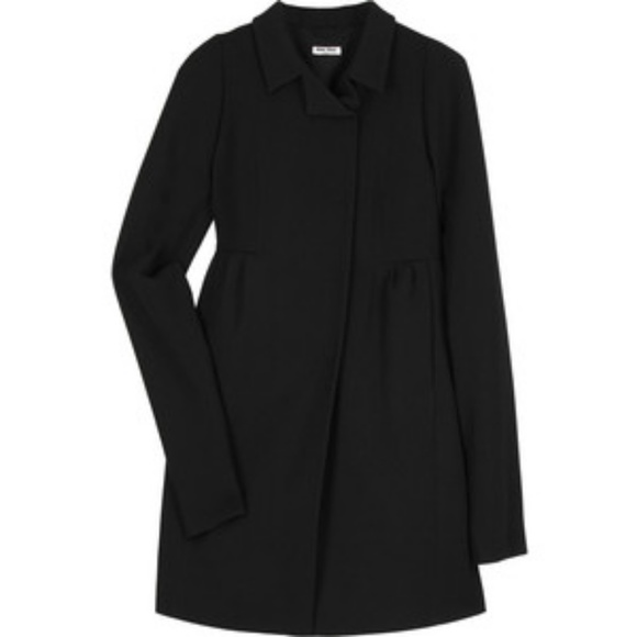 undefeated x best collection better Miu Miu Black Virgin Wool Babydoll Coat